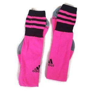 NWOT Adidas Hot Pink & Black Knee High Socks